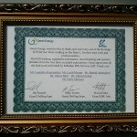 Certificate of Recognition from Genel Energy